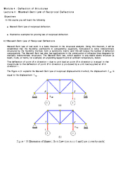 Module   Deflection of Structures Lecture   MaxwellBet PowerPoint PPT Presentation