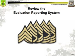 Review the   Evaluation Reporting System