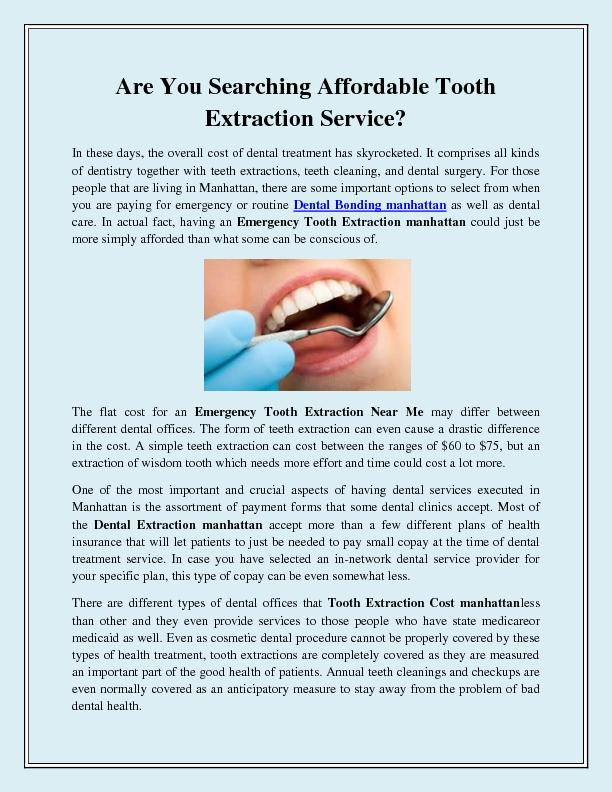 Are You Searching Affordable Tooth Extraction Service PowerPoint PPT Presentation