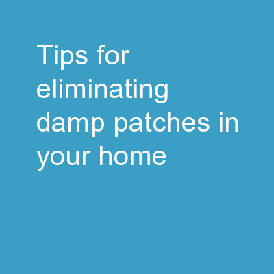 Tips For Eliminating Damp Patches In Your Home PowerPoint Presentation, PPT - DocSlides