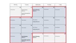 Sprint 5 Schedule (15 – 2 days)