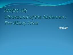 SON 2111 Abdominal Sonography 1