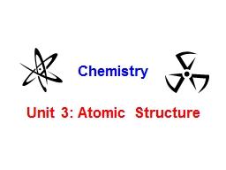 Unit 3: Atomic Structure