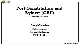 Post Constitution and Bylaws (CBL) PowerPoint Presentation, PPT - DocSlides