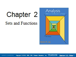 Chapter  2 Sets and Functions PowerPoint PPT Presentation