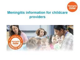 Meningitis information for childcare providers