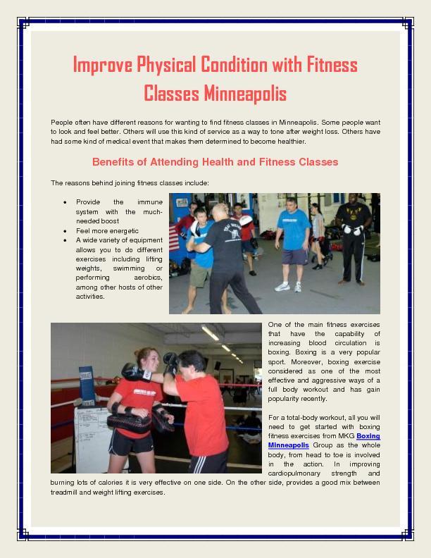 Fitness Classes Minneapolis PDF document - DocSlides
