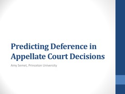 Predicting Deference in Appellate Court Decisions