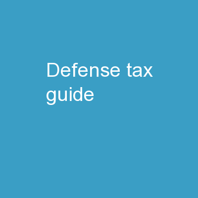 Defense Tax Guide PowerPoint PPT Presentation