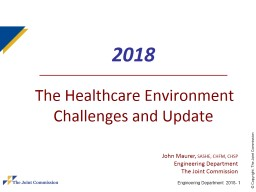 2018    The Healthcare Environment