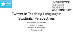 Twitter in Teaching Languages: Students' Perspectives