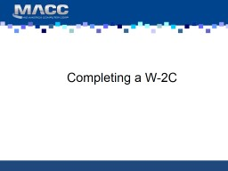 Completing a W-2C