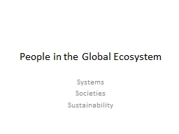 People in the Global Ecosystem