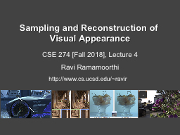 Sampling and Reconstruction of Visual Appearance