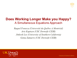 Does Working Longer Make you Happy?