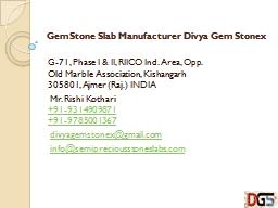 GemStone Slab Manufacturer Divya Gem Stonex