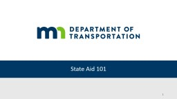 State Aid 101 and Update