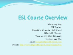 ESL Course Overview Wooyoung