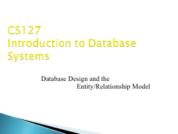 Database Design and the PowerPoint Presentation, PPT - DocSlides