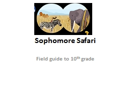 Sophomore Safari Field guide to 10 PowerPoint PPT Presentation