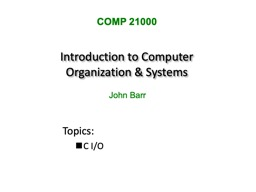Introduction to Computer Organization & Systems PowerPoint Presentation, PPT - DocSlides