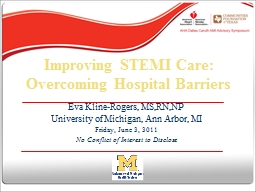 Improving STEMI Care:  Overcoming Hospital Barriers