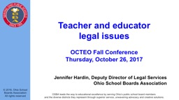 Teacher and educator  legal issues