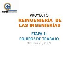 ETAPA  1: EQUIPOS DE TRABAJO PowerPoint PPT Presentation