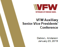 VFW Auxiliary  Senior-Vice Presidents' Conference