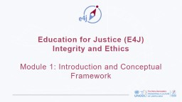 Education for Justice (E4J)