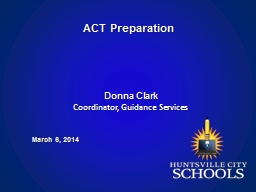 ACT Preparation March 6 ,