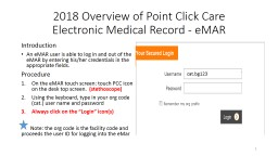 2018  Overview of Point Click Care
