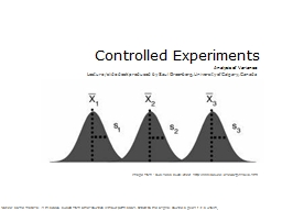 Controlled  Experiments Analysis of
