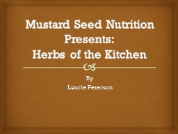Mustard Seed Nutrition Presents: