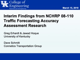 Interim Findings from NCHRP 08-110 Traffic Forecasting Accuracy Assessment Research