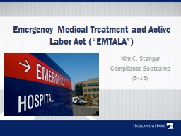 """Emergency Medical Treatment and Active Labor Act ("""" EMTALA"""