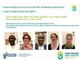 Implementing tools to monitor the SWA collaborative behaviours: