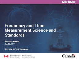 Frequency and Time Measurement Science and Standards