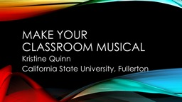 Make your classroom musical