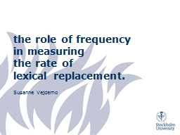 t he  role of frequency in measuring