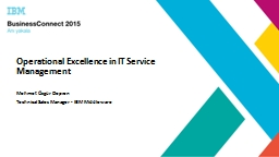 Operational Excellence in