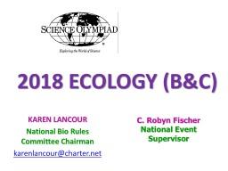 2018 ECOLOGY (B&C)
