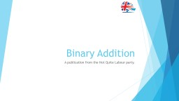 Binary Addition A publication from the Not Quite Labour party.