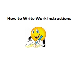How to Write Work Instructions