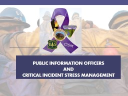 Public information officers