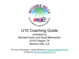 U10 Coaching Guide compiled by