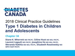 Type 1 Diabetes in Children and Adolescents