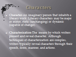 Characters Character