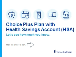 Choice Plus Plan  with PowerPoint PPT Presentation