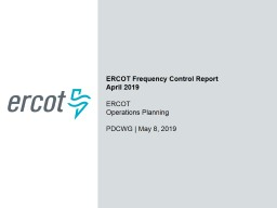 ERCOT Frequency Control Report